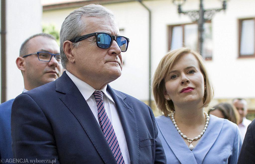 Minister kultury w rządzie PiS Piotr Gliński z wizytą s Skarżysku Kamiennej, 21 lipca 20018