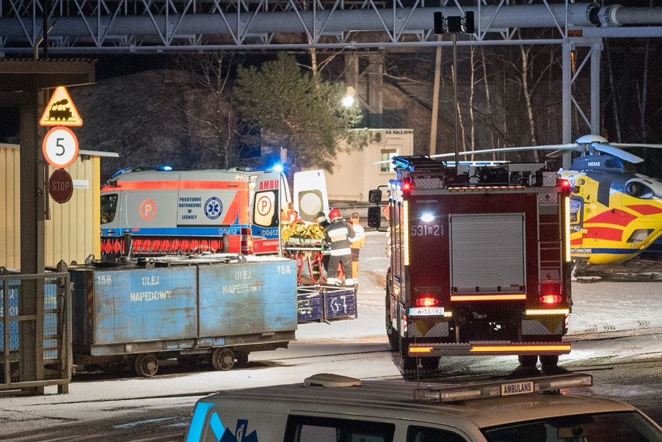 Polkowice. Akcja ratunkowa w kopalni Rudna