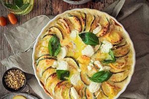 Gratin z ziemniaków i cukinii, czyli zapiekanka pod beszamelem