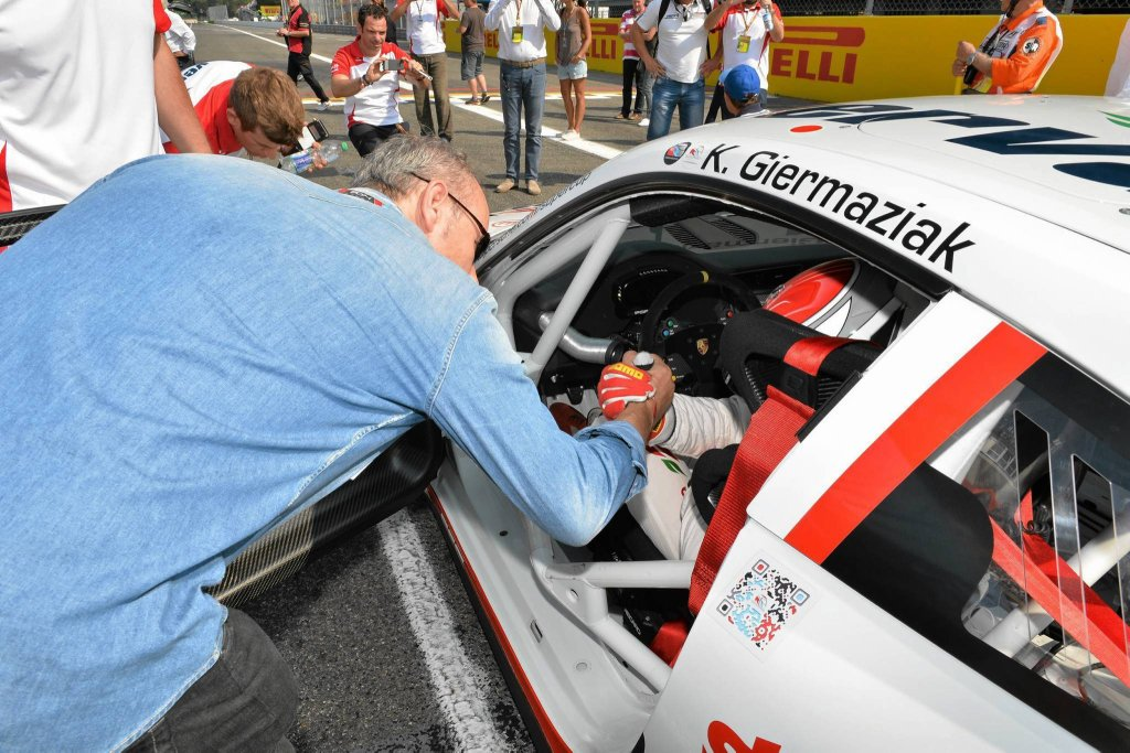 Kuba Giermaziak na torze Monza
