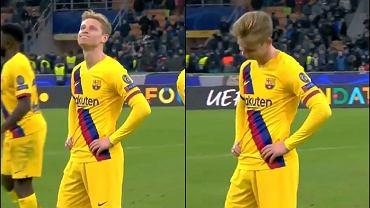 Kamery nagrały reakcję Frenkiego de Jonga na odpadnięcie Ajaksu z Ligi Mistrzów