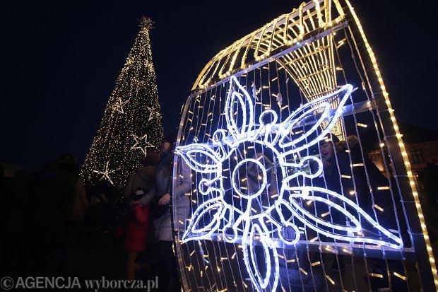 06.12.2019 Kielce , Rynek . Uroczystosc wlaczenia swiatecznej choinki . Fot. Pawel Malecki / Agencja Gazeta