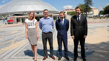 Od lewej Anna Wesołowska, Przemysław Zych, Marcin Rol i Arkadiusz Wiśniewski