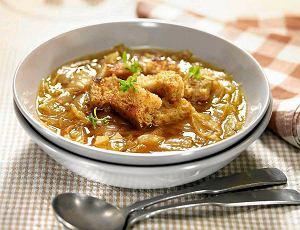 Zupa cebulowo-czosnkowa na pilznerze