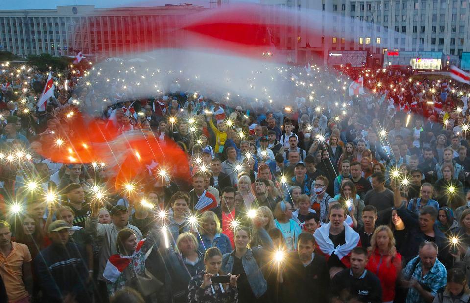 19.08.2020, Mińsk, protest przeciwko Aleksandarowi Łukasznce
