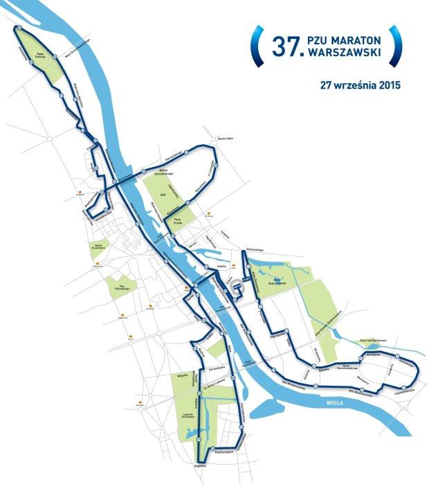 Nowa trasa Maratonu Warszawskiego