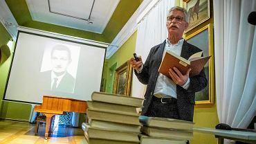 Spotkanie dotyczące digitalizacji 'Rocznika Białostockiego' z udziałem Andrzeja Lechowskiego (na zdjęciu), Piotra Chomika i Wiesława Wróbla