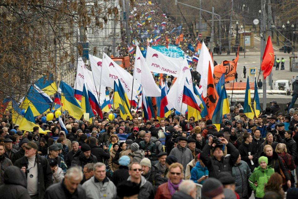 Na manifestacji przyjęto rezolucję, w której zażądano od Putina natychmiastowego wycofania wojsk rosyjskich z Krymu, zaprzestania ingerowania w wewnętrzne sprawy Ukrainy i przestrzegania porozumień międzynarodowych w sprawie Ukrainy, pod którymi widnieje podpis Federacji Rosyjskiej.