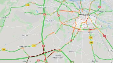 Utrudnienia po wypadku na autostradzie A4 we Wrocławiu.