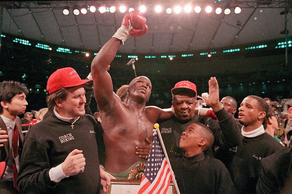 James 'Buster' Douglas po wygranej z Tysonem