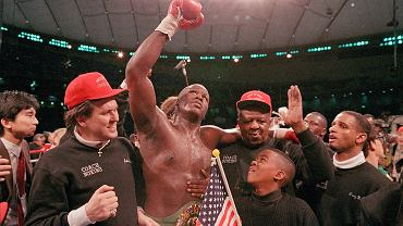 James 'Buster' Douglas po wygranej z Tysonem