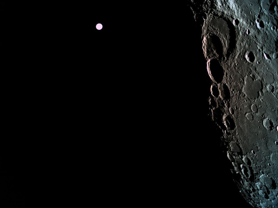 Zdjęcie niewidocznej strony Księżyca, które 4 kwietnia wykonał statek Bereszit z Izraela