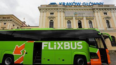 Autobus FlixBusa w Krakowie