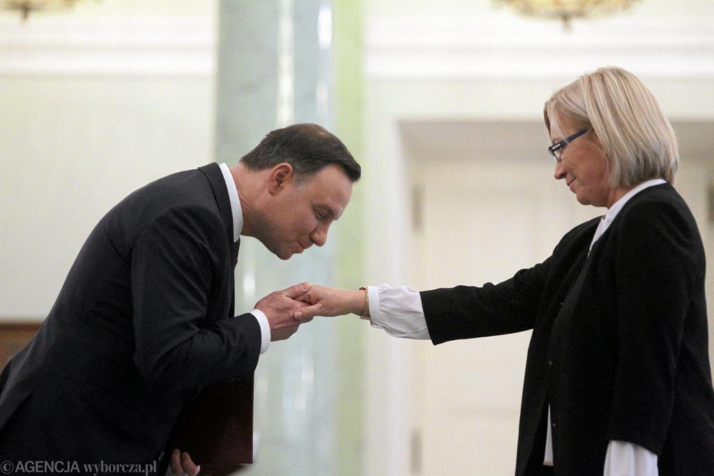 Zaprzysiężenie sędzi Julii Przyłębskiej na prezesa TK, 21 grudnia 2016.