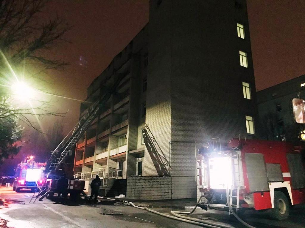 Ukrainy. Pożar w szpitalu zakaźnym w Zaporożu. Zginęły cztery osoby, w tym lekarz