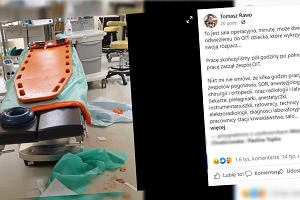 """Zdjęcie sali operacyjnej po walce o życie dziecka po próbie samobójczej. """"Wykrzyczało rozpacz"""""""