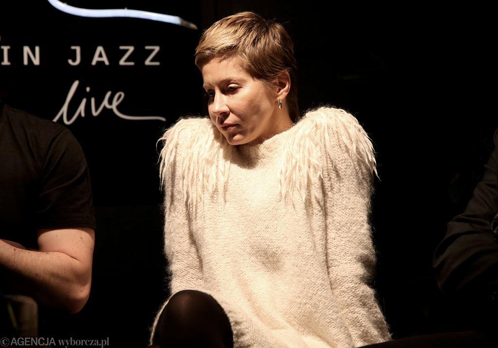 Katarzyna Warnke podczas konferencji prasowej przed festiwalem Szczecin Jazz 2019