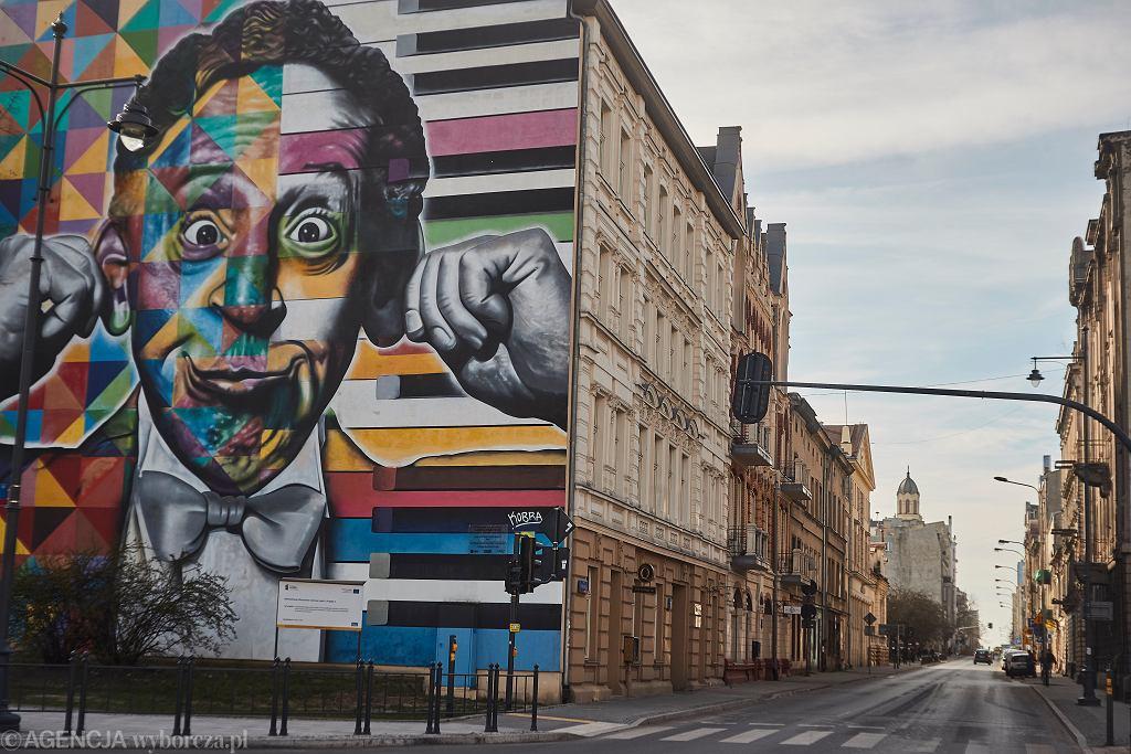 16.03.2020, puste ulice w Łodzi podczas epidemii koronawirusa.