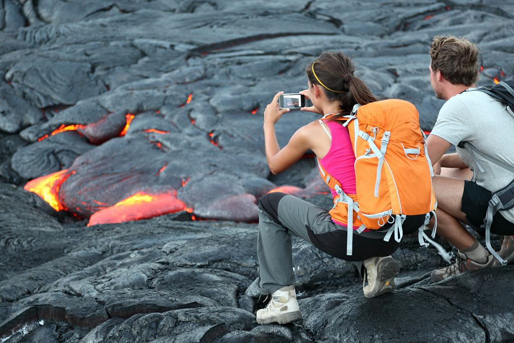 Wulkan Kilauea jest największą atrakcją turystyczną Big Island