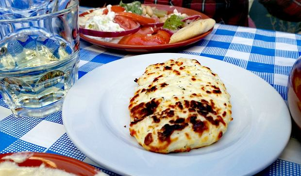 Cypr jedzenie: smażony ser halloumi