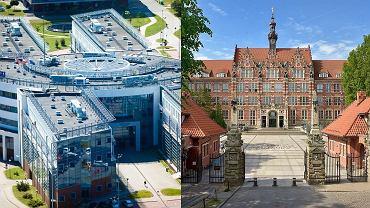 Uniwersytet Gdański i Politechnika Gdańska.