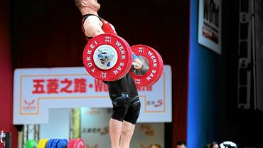 Marcin Dołęga podczas mistrzostw świata we Wrocławiu