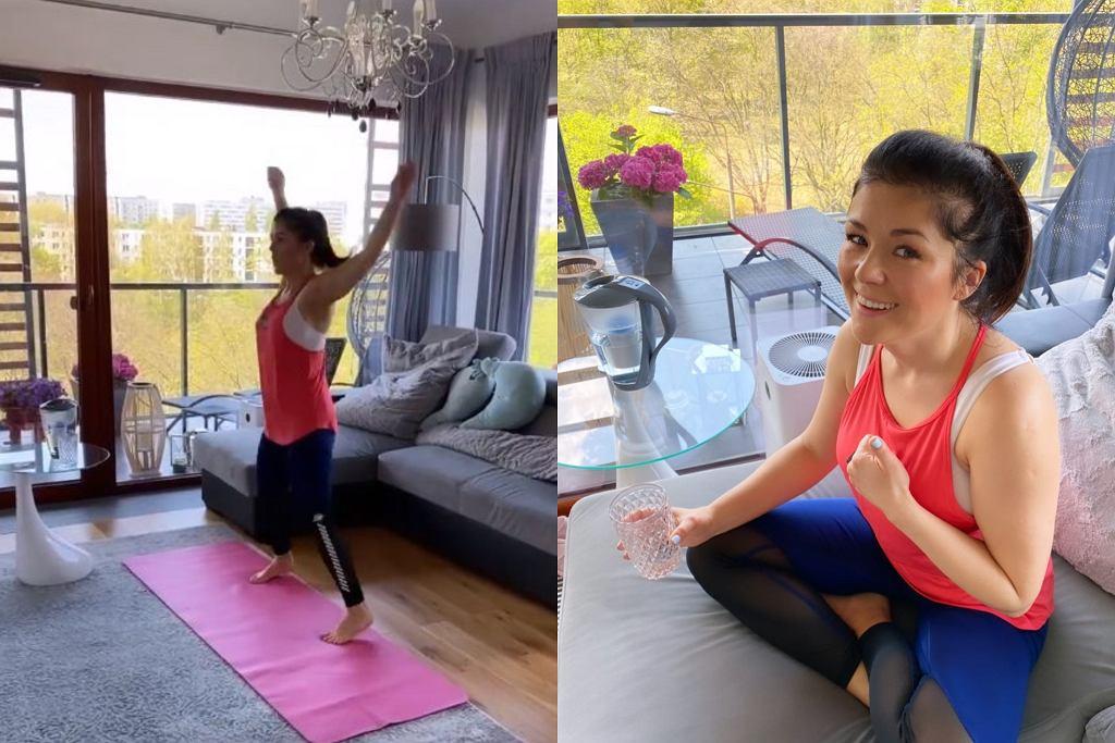 Katarzyna Cichopek trenuje w domu