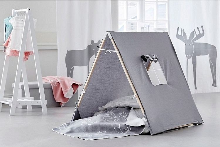 Namiot dla dzieci w stylowej formie - idealny do skandynawskiego wnętrza