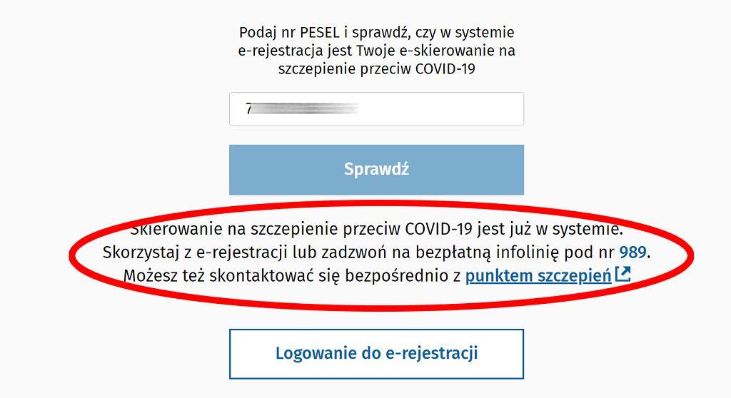 Sprawdź, czy masz skierowanie na szczepienie przeciwko COVID-19