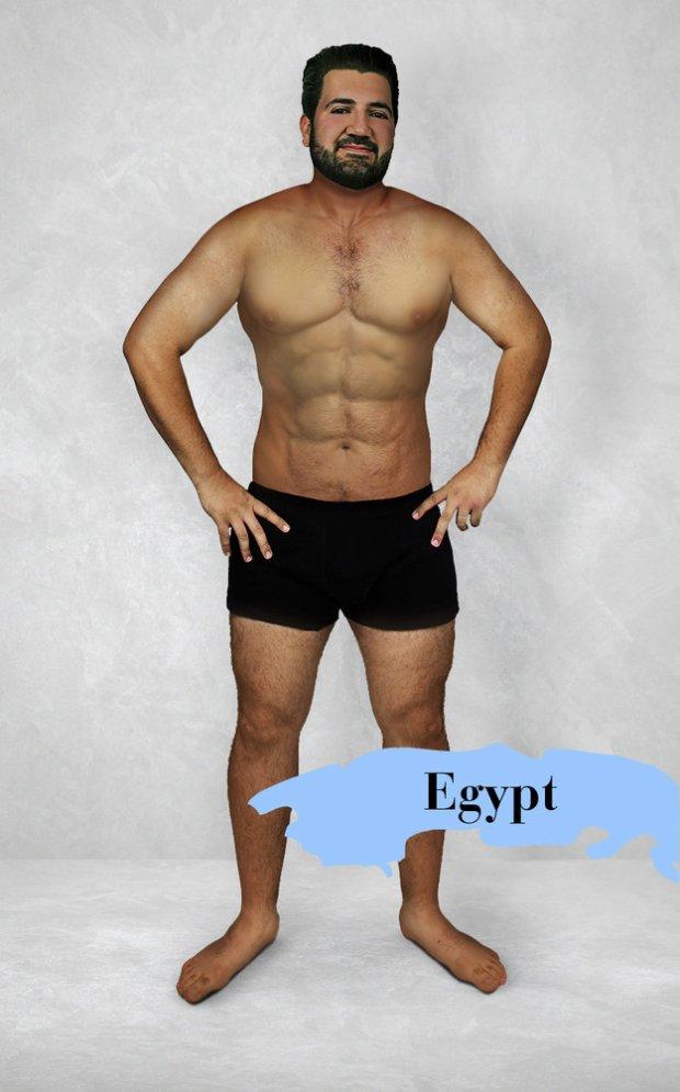 męskie ciało seksualne przed i po montacie)