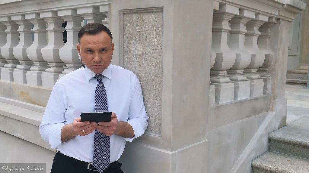 Prezydent Andrzej Duda - kadr z rapu w wykonaniu prezydenta