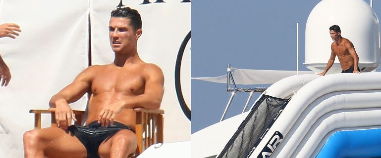 Cristiano Ronaldo szaleje na luksusowym jachcie. Jest jego piękna ukochana, jacuzzi i wielka dmuchana zjeżdżalnia. Taki to pożyje!