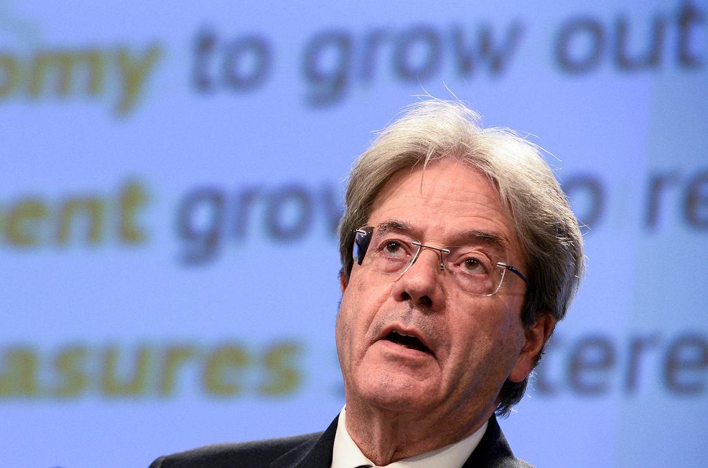 Paolo Gentiloni, komisarz UE do spraw gospodarczych, 12 maja 2021 r.