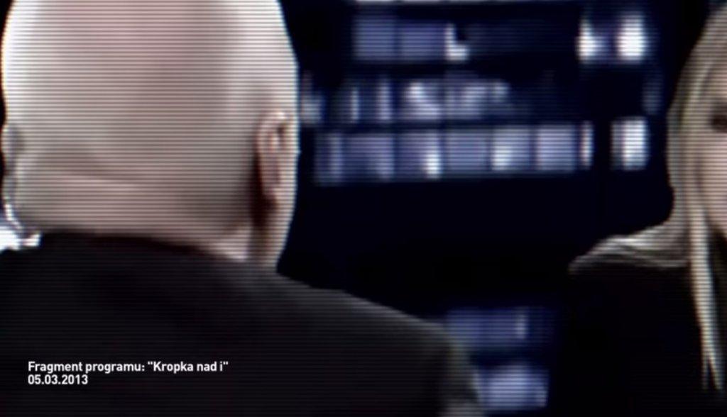 Fragment spotu PiS, w którym wykorzystano program