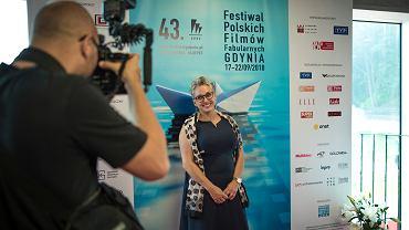 Kinga Dębska podczas zeszłorocznego Festiwalu Polskich Filmów Fabularnych w Gdyni