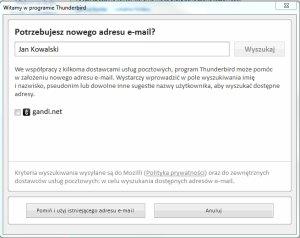 Dodawanie konta poczty Gazeta.pl w Thunderbird