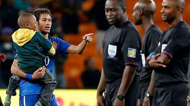 Neymar i mały kibic brazylijskiej kadry