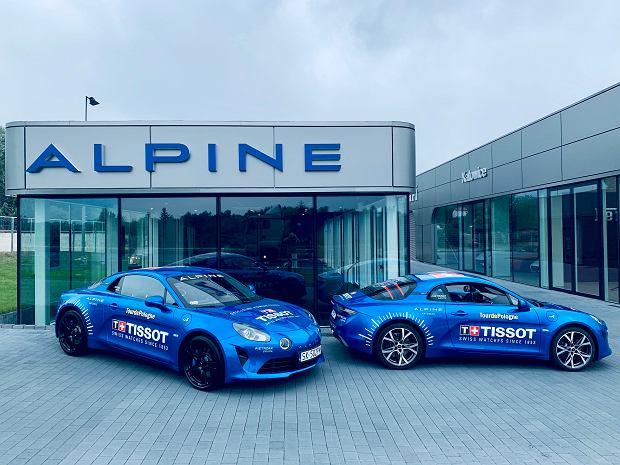 Alpine A110 ze stajni Alpine Centre Katowice