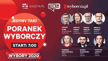 Wybory prezydenckie 2020. Poranek wyborczy Gazeta.pl, TOK FM i Wyborcza.pl.