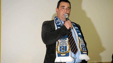 Walne zebranie w Stomilu Olsztyn i wybory nowego prezesa piłkarskiego klubu. Na zdjęciu były prezes Jacek Czałpiński (czerwiec 2014 r.)