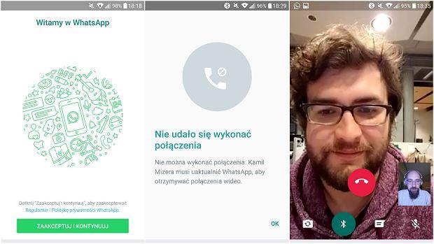 Rozmowy wideo w komunikatorze WhatsApp