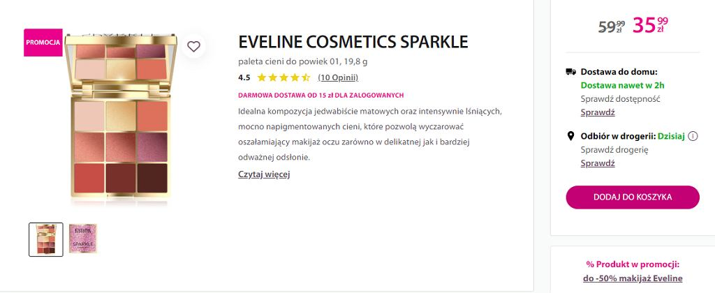 paleta cieni Eveline