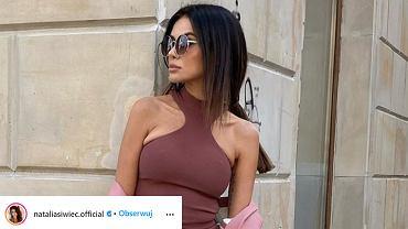 Natalia Siwiec w modnym komplecie z popularnej sieciówki. 'Myślałam, że to Victoria Beckham'