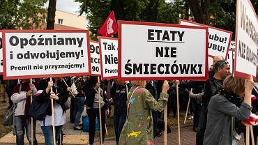 Protest Związkowców LOT