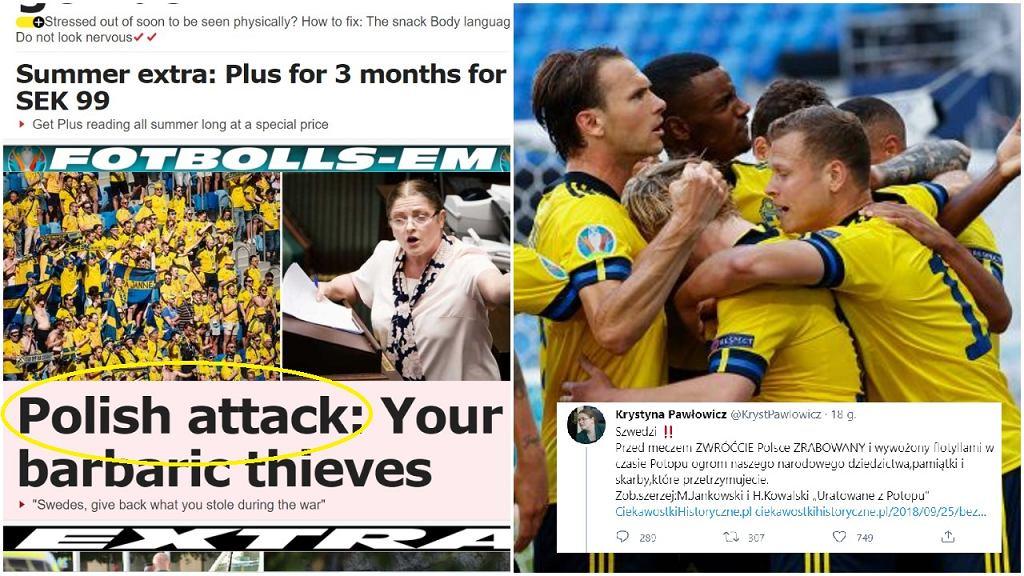 Szwedzkie media przed meczem z Polską piszą o wpisie na Twitterze Krystyny Pawłowicz