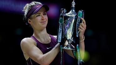 Elina Switolina z trofeum na turnieju w Singapurze
