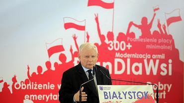 Wybory parlamentarne 2019. Konwencja regionalna PiS z udziałem prezesa Jarosława Kaczyńskiego