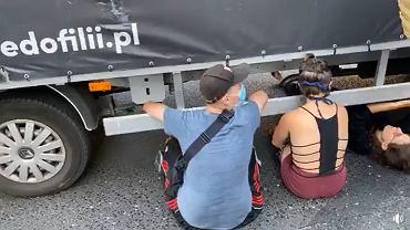 Aktywiści znów blokowali