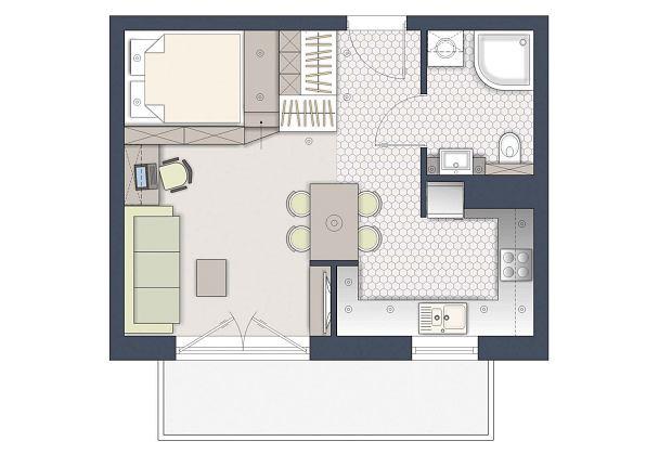 Czy da się wydzielić sypialnię na 33 metrach?