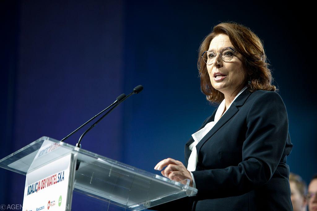 Konwencja Koalicji Obywatelskiej w Poznaniu. Małgorzata Kidawa - Błońska